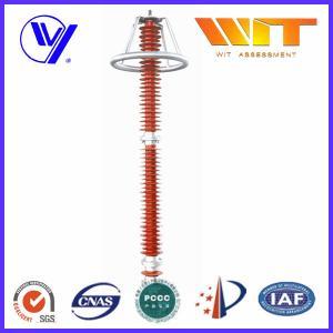 220KV Red Transmission Line Surge Arrester , Composite Polymer Lightning Arrestor Manufactures
