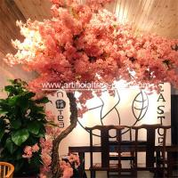 China Fiberglass , Wood Material Artificial Blossom Tree For Office Buildings on sale