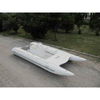 Quality High Racing Catamaran Work Boat 5m 8 Person Fishing Boat With Jockey Console for sale