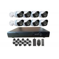 Outdoor Waterproof 1000TVL 8 Channel House Security Cameras Systems With IR CUT Manufactures