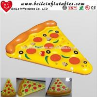 2016 Stock Giant PVC air bed inflatable pizza float Manufactures
