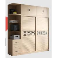 Integrated Wooden Wardrobe Closet Fashion With Wood - Plastic Moving Door Manufactures