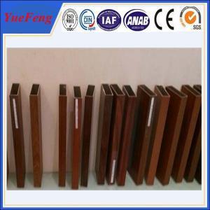 6000 Series wood look aluminum rectangular tube / aluminium square pofiles Manufactures