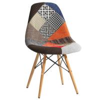 KLD Dining Chair Side Chair with Wood Legs, Mid Century Modern fabric dining chair Manufactures