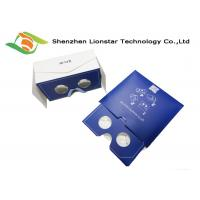 Foldable Cardboard VR Glasses Envelope Shaped With Customized Lens Diameter Manufactures