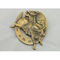 4.0mm High Relief 3D Die Cast Medals By Antique Gold Plating For Gift Manufactures