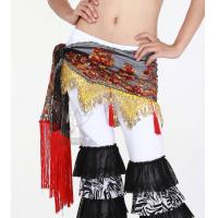 Delicated Embroidered Belly Dancing Hip Scarves Egyptian With Flowers In Practice Manufactures