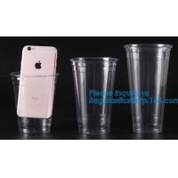 Amazon Hot Selling 9 oz Gold Rimmed Clear Plastic Tumblers Plastic Cups Fancy