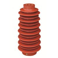 140X380mm Epoxy Resin Support Capacitor Insulators , Electrical Post Insulators Manufactures