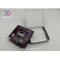 Black Paper Pharmaceutical Packaging Boxes Laser Foil Embossed Logo Design Manufactures