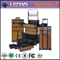 China Rolling trolley beauty case professional makeup case with wheel on sale