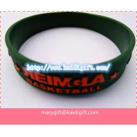 China Emboss Silicon Bracelet, Rainbow Silicone Wristband Custom Wristband Cheap on sale