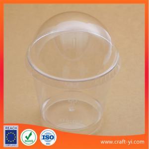 Ice cream plastic cup 200 ml hard PS in transparent colour 100 piece per carton