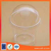 Quality Ice cream plastic cup 200 ml hard PS in transparent colour 100 piece per carton for sale