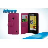 PU Nokia Leather Phone Case Wallet Cover with Stand for Nokia 520 Manufactures