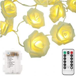 11.5FT White Rose 20 LED String Lights For Mother