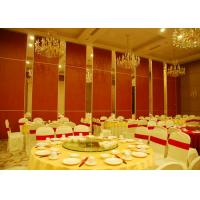 Red Fabric Plywood Single / Double Door Folding Partition Walls  BUNGE Standards Manufactures