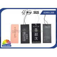 Logo Luxurious swing tag printing Eyelet custom hang tags for clothing / Apparel Belt Manufactures