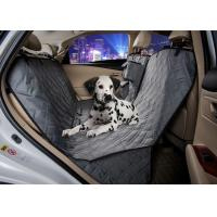 Grey Animal Car Seat Covers , Non Slip Rear Car Seat Covers For Dogs Manufactures