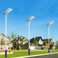 China Low price dimmable led street light 40w 60w 80w hps solar motion street light with solar panel and li-ion battery backup on sale