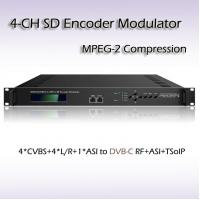 Four-Channel CVBS DVB-C QAM Modulator REM7204 Manufactures