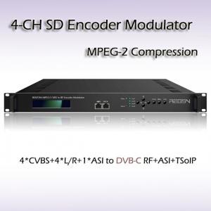 Four-Channel CVBS DVB-C QAM Modulator REM7204 Manufactures
