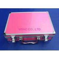 Pink Cosmetic Case 90 Degree Open , Multi - Purpose Pink Makeup Case Manufactures
