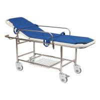 Stainless Steel Manual Patient Transfer Trolley For Handicapped Manufactures
