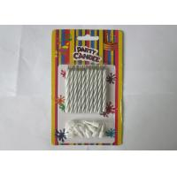 China Column Shape Magic Relighting Candles , White Striped Birthday Candles on sale