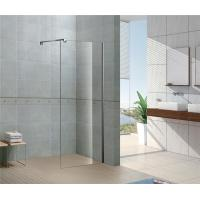 Clear / Forsted Tempered Glass Shower Doors 6 / 8 MM  CE Certification Stainless Steel Support Bar Manufactures