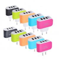 CE Universal Mobile Phone Charging Plug  EU / US  With 3 Port Led Light Manufactures