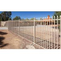 Flat top galvanized steel tubular metal fence panel Manufactures