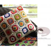 China Crochet bed pillow Daisy hand-woven cushion covers Decorative Cushion flower cushion Weddi on sale