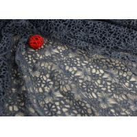 Flower Water Soluble Polyester Guipure Lace Fabric By The Yard Highly Stain Resistant Manufactures