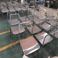 high quality stainless steel chair brushed finish metal gold chair for restaurant Manufactures