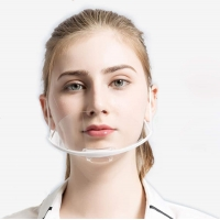Fog Proof Ergonomic ABS PET Transparent Mouth Cover Manufactures