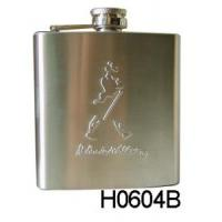 6oz New Hip Flask Set with Leather (H0604B) Manufactures