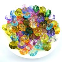 Wholesale acrylic octagon beads mix colors to option. Manufactures