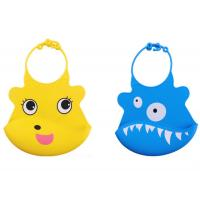 China Cartoon Printing Colorful silicone baby bibs for sale
