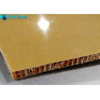 Quality Phenolic Resin Aramid Honeycomb Panels For Yacht Wall / Ceiling 40g/M2 Weight for sale