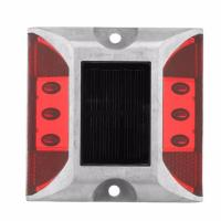 China Outdoor Solar Led Road Studs Reflective Ground Light No UV Rays Quickly Installed on sale