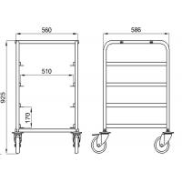 500x500 Stainless Steel Baking Tray Trolley Custom Design Baking Equipment Rack Manufactures