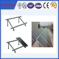 Single cloumn Steel solar panel mounting bracket, Solar panel roof mount kit Manufactures