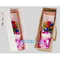 China Unique flat bottom color high class paper carrier die cut handle paper flower bag,kraft flower paper bag customized flow on sale