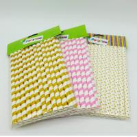 Water Resistance Paper Restaurant Supplies , Colored Paper Straws Eco - Friendly Manufactures