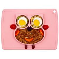 Silicone Placemat - Toddler Plates BPA-Free FDA Approved Feeding Plate Mat 11x8x1 inch for Babies Kids Manufactures