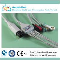 M&B one-piece 3-lead ecg cable,AHA,6PIN Manufactures