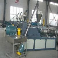 Double Screw Wood Plastic Extrusion Line SJSZ 65 For Plastic Profiles Manufactures