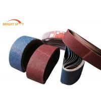 Quality MPA Waterproof Zirconia Sanding Belts , Oil Resistant 60 Grit Sanding Belt for sale