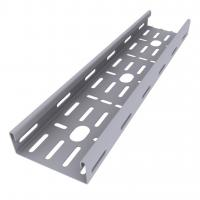Enamel Paint Ventilated Cable Tray Corrosion Resistant Smooth Edges Grey Color Manufactures